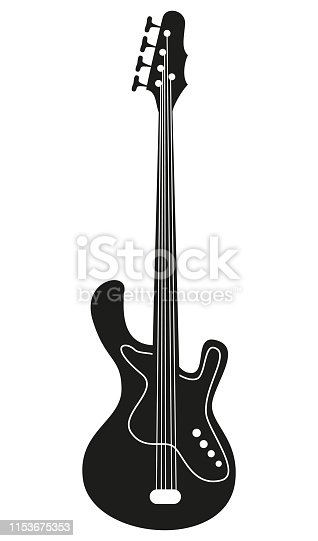 Electric guitar on the white background. Vector illustration.