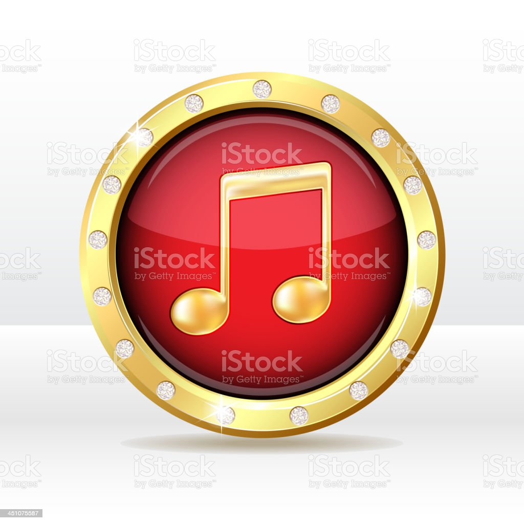 Music icon royalty-free stock vector art