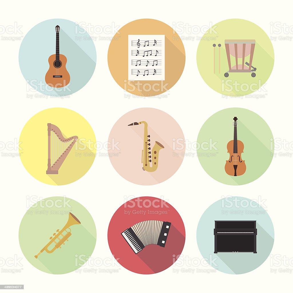 Icono de música - ilustración de arte vectorial