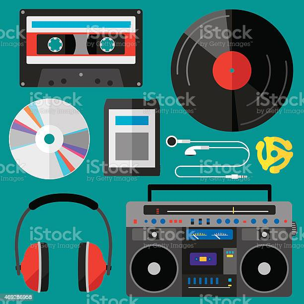 Music Icons Flat Stock Illustration - Download Image Now