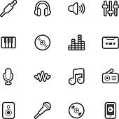 Music icons - Regular Outline