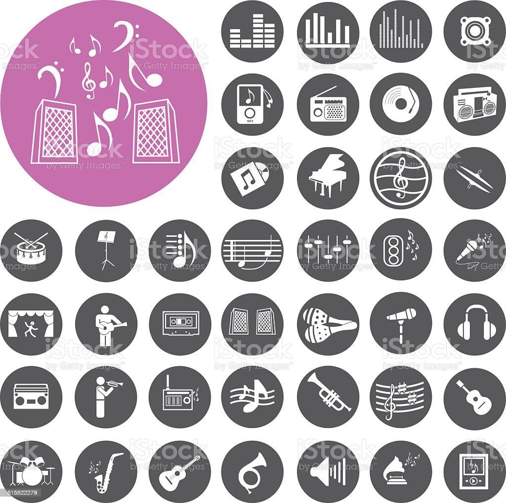 Musik-Symbole set.  Illustration eps10 – Vektorgrafik