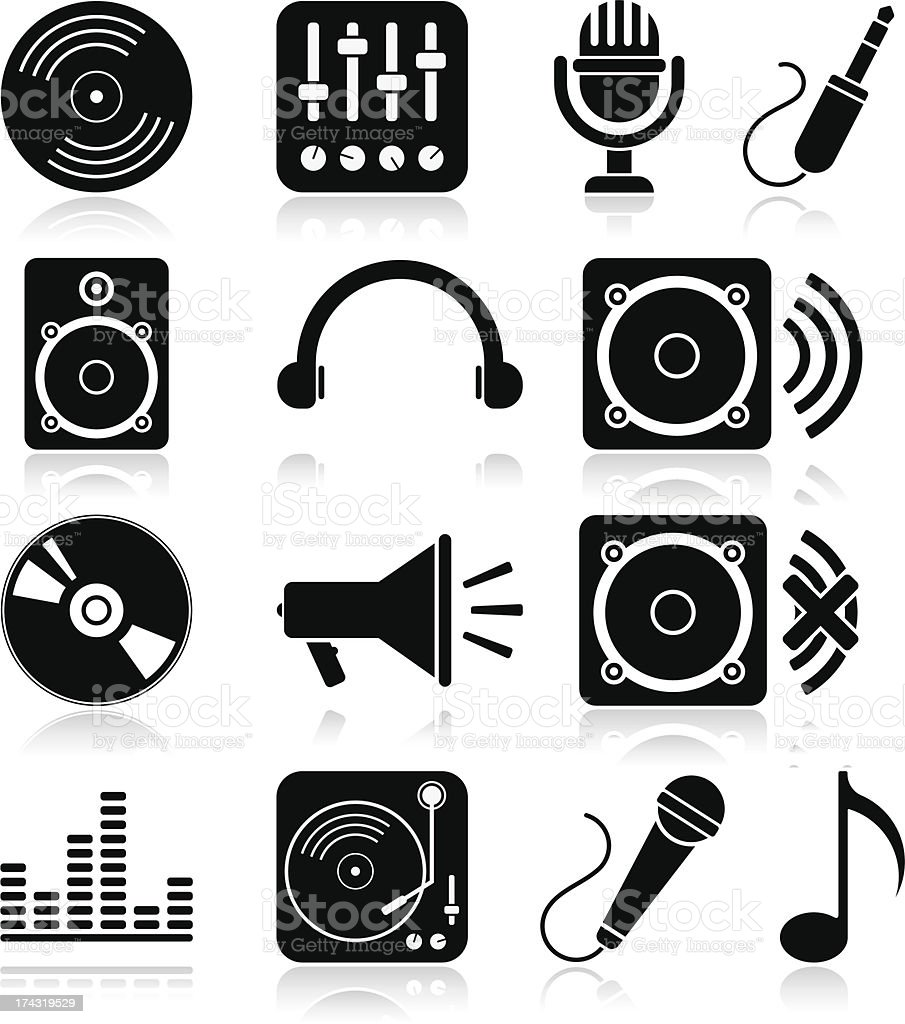 Music icons royalty-free music icons stock vector art & more images of abstract