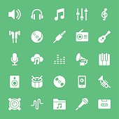 Music icons  - White Vector EPS File.
