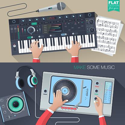 music illustration concept