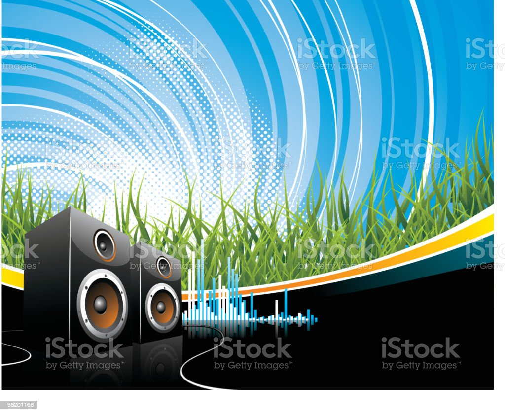 Music illustration with speakers. royalty-free music illustration with speakers stock vector art & more images of abstract
