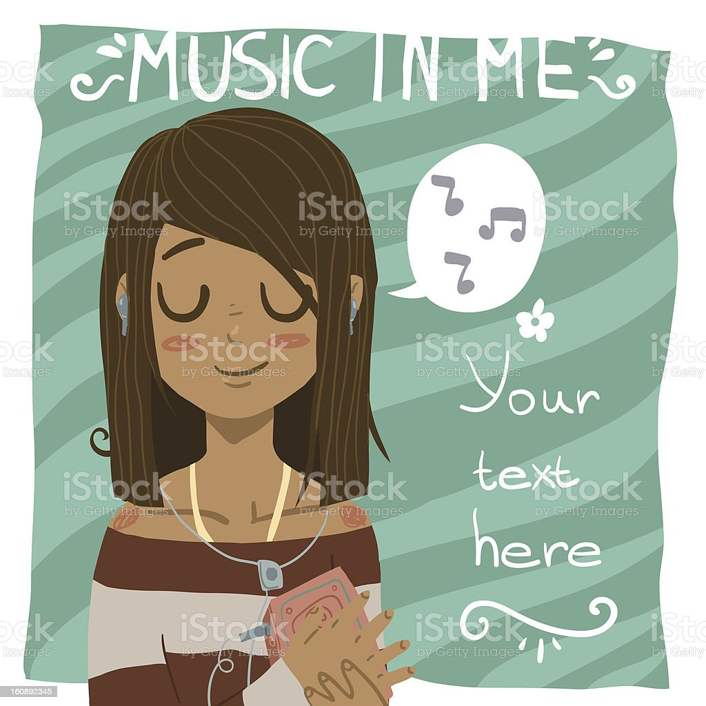 Music in me vector art illustration
