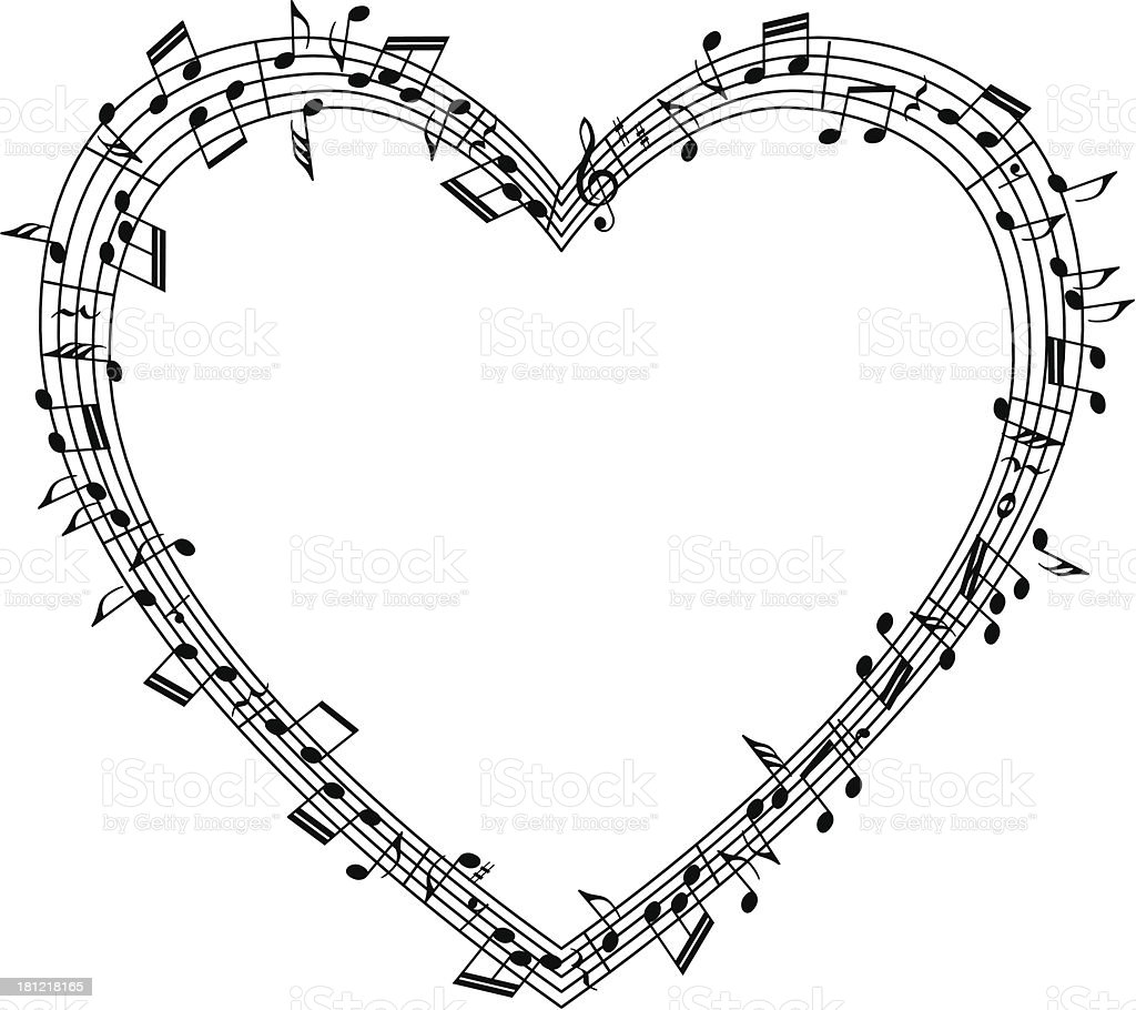 music in the heart royalty-free stock vector art