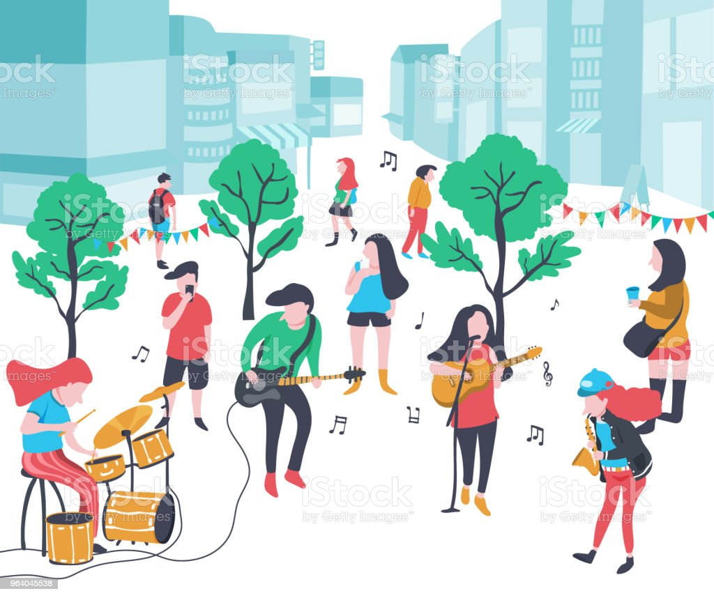 music in the park - Royalty-free Arts Culture and Entertainment stock vector