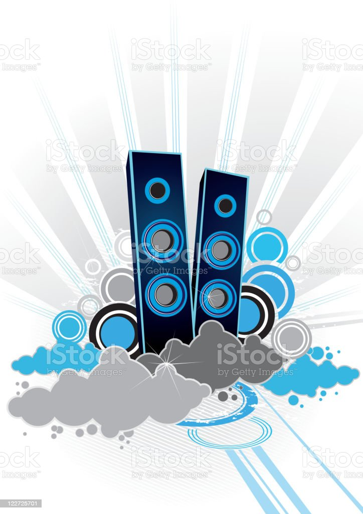 Music in the sky royalty-free stock vector art