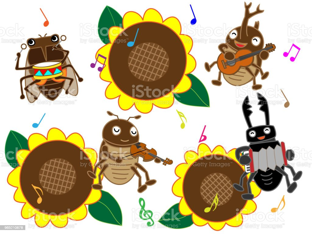 music insect royalty-free music insect stock vector art & more images of accordion - instrument
