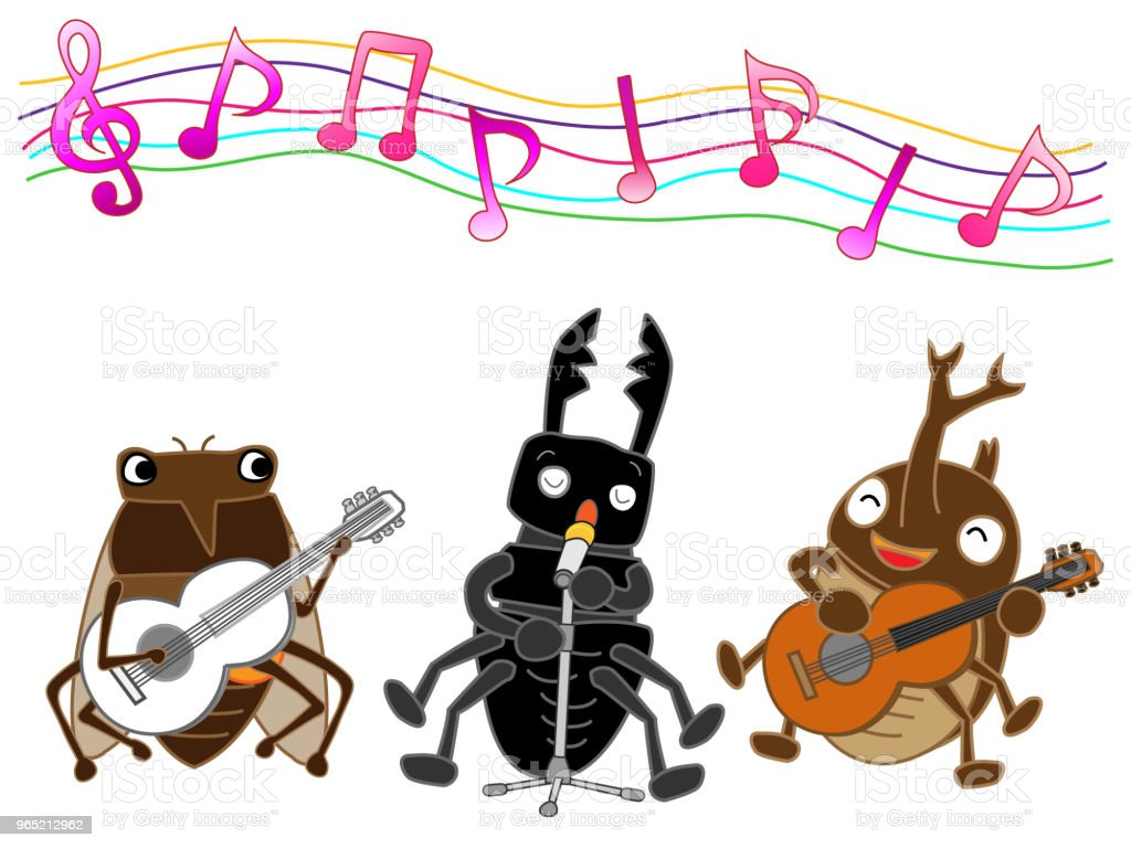 music insect vector art illustration