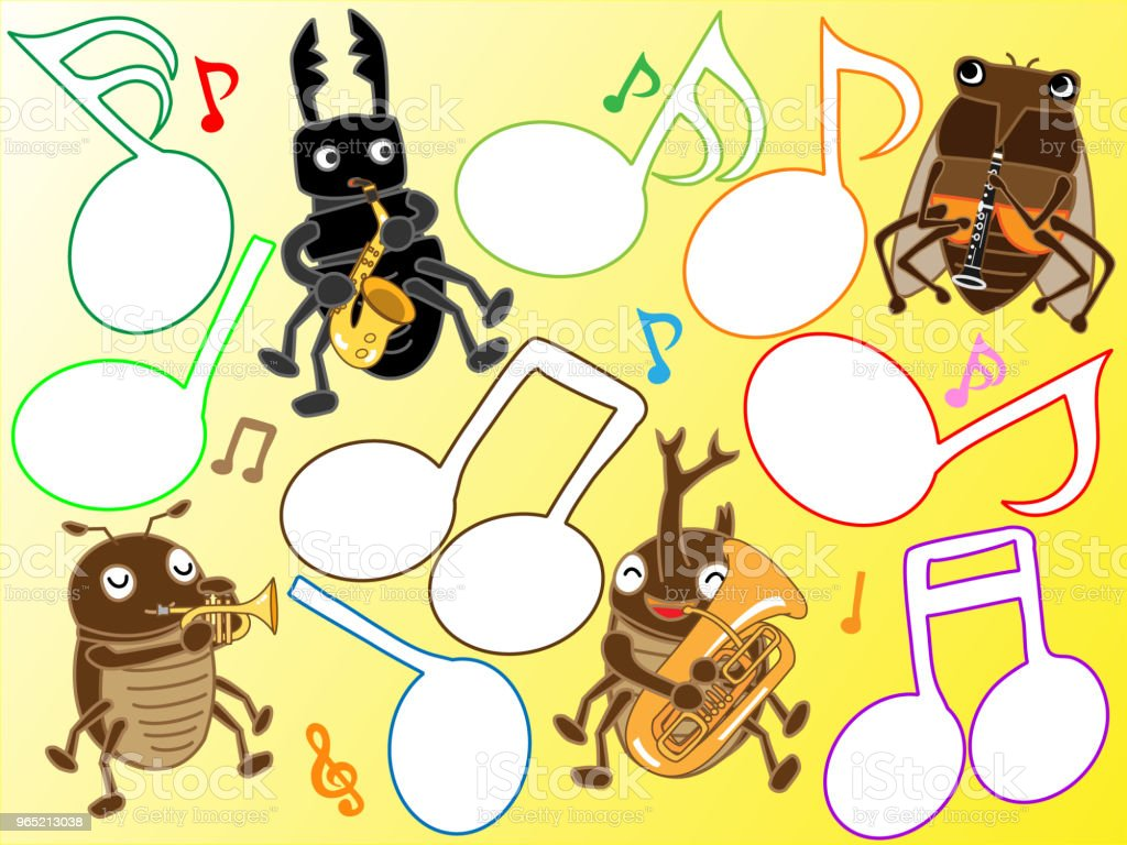 music insect royalty-free music insect stock illustration - download image now