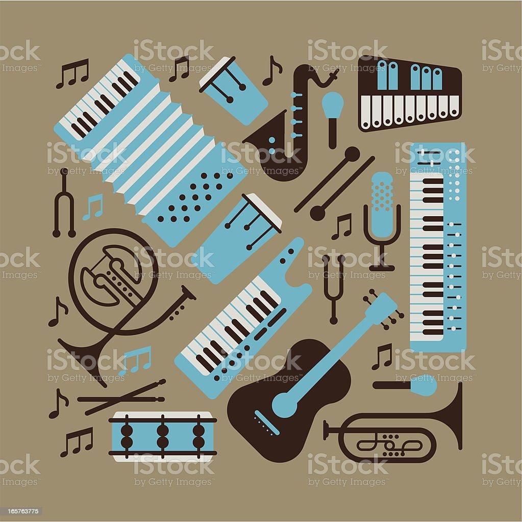 Musik instrumants – Vektorgrafik