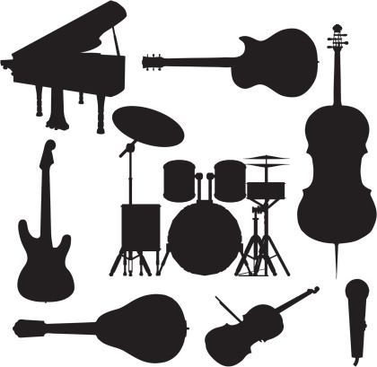 Music Instrument Silhouette Collection