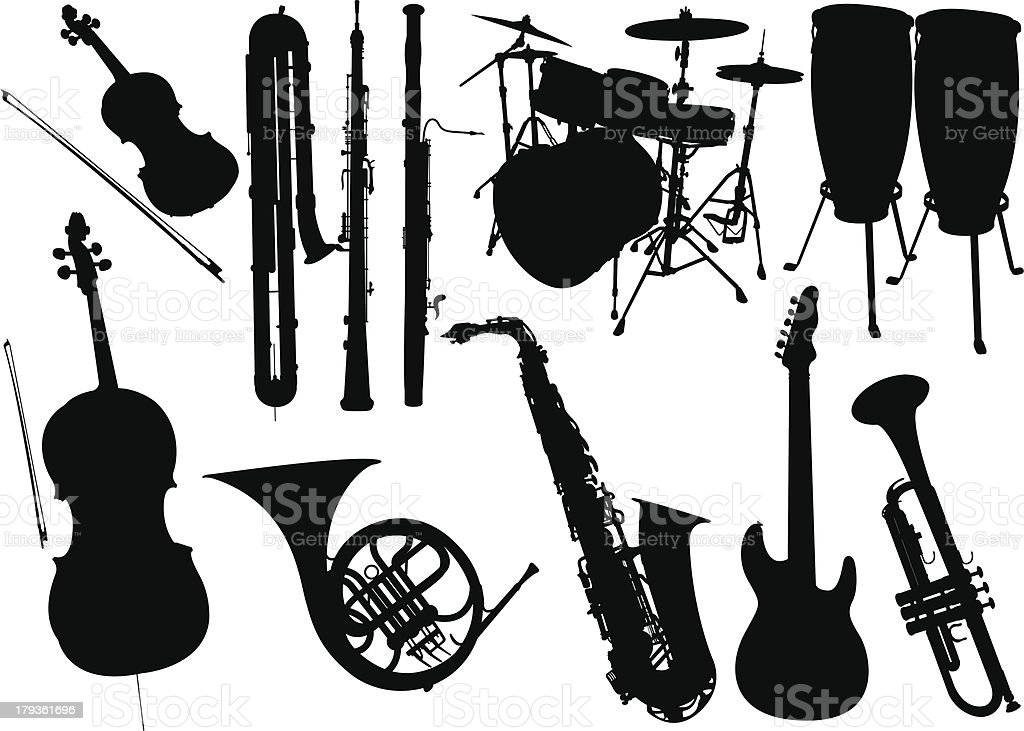 Music instrument royalty-free music instrument stock vector art & more images of acoustic guitar