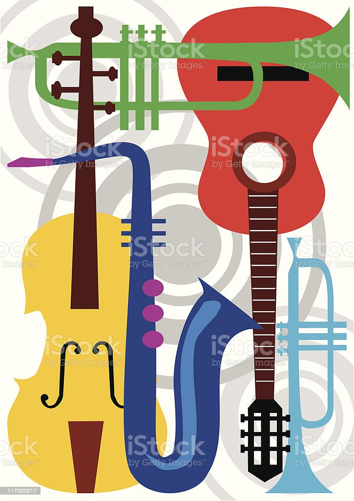 Music instrument vector vector art illustration