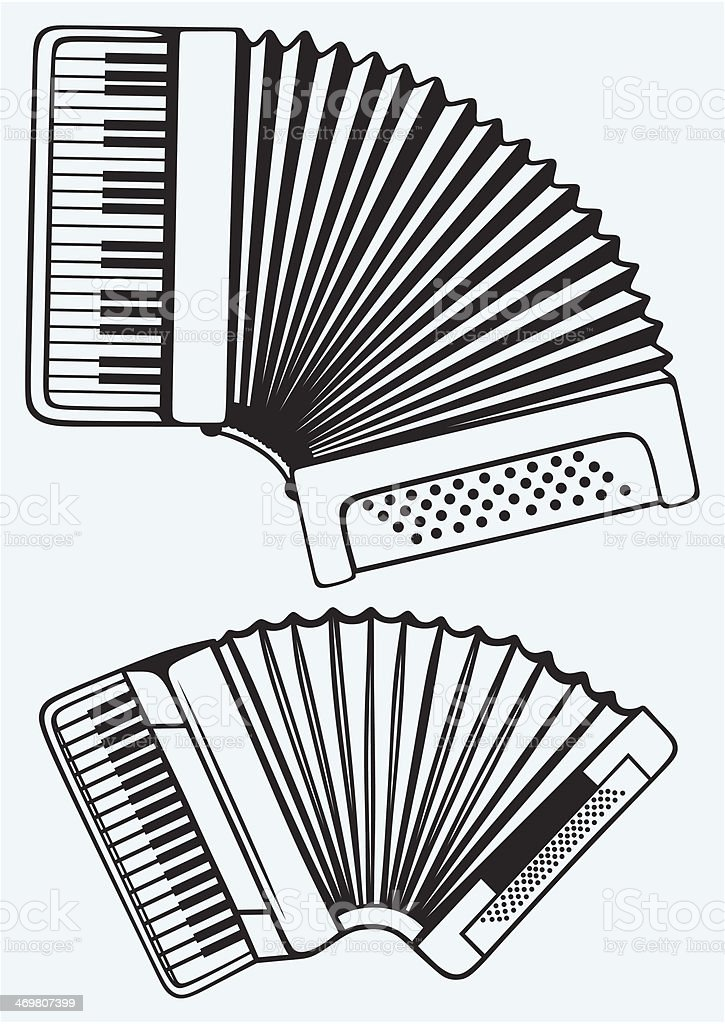 Music instruments. Accordion royalty-free stock vector art