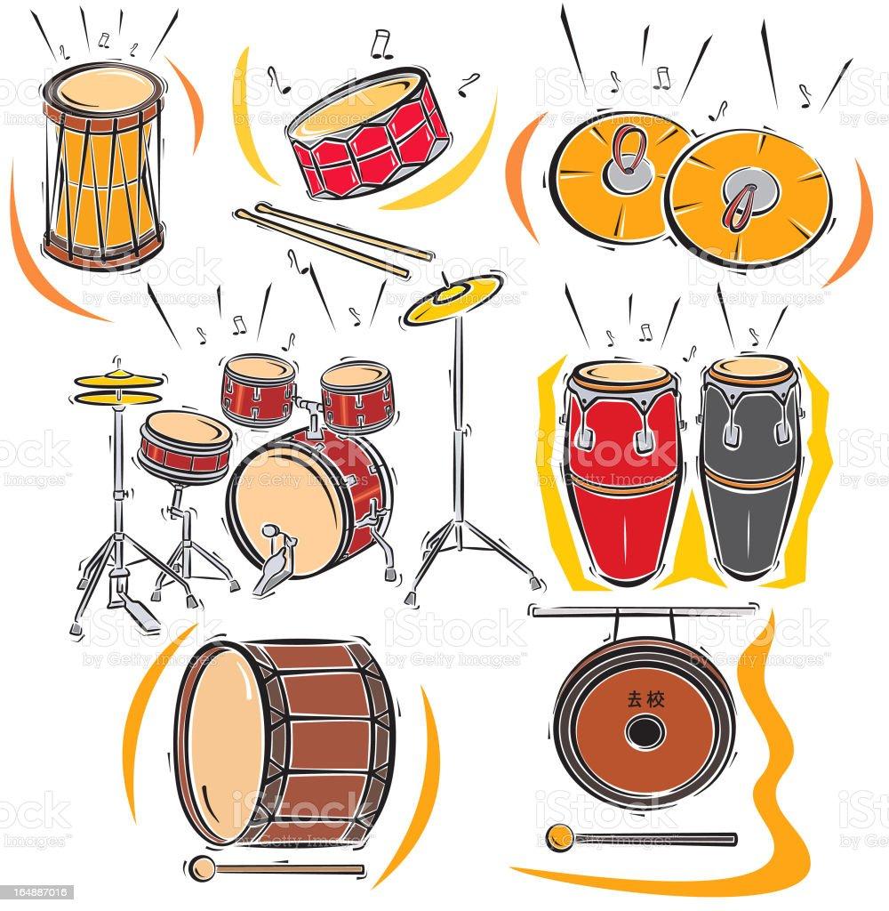 Music Instruments IXXV: Drums (Vector) vector art illustration