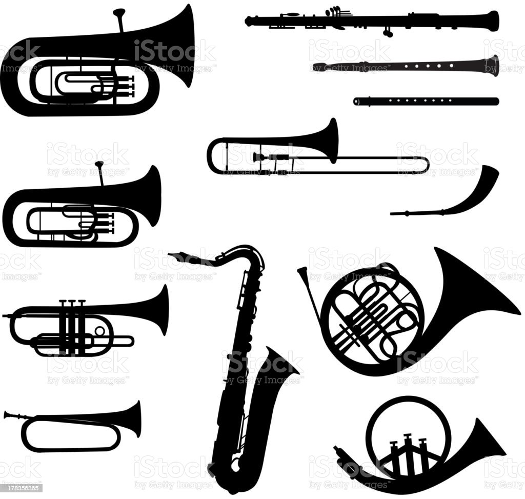 Music instruments vector set. vector art illustration