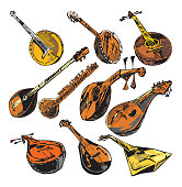Music Instruments VII: Mandolins (Vector)