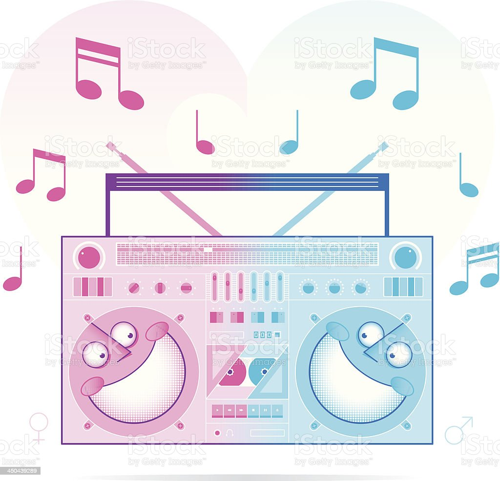 music is love royalty-free stock vector art