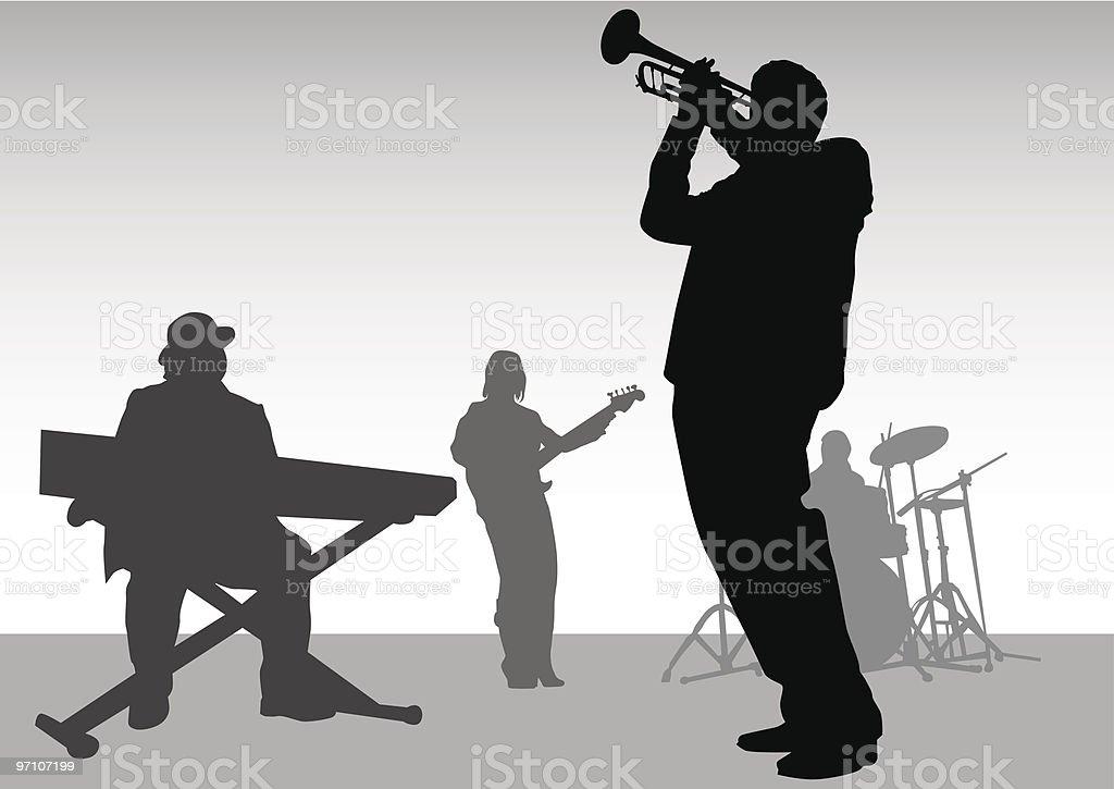 Music jazz vector art illustration