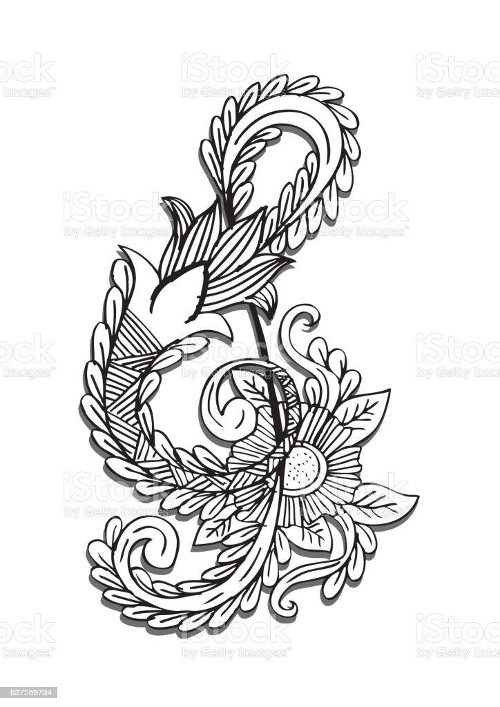 key doodle style drawing illustration arte
