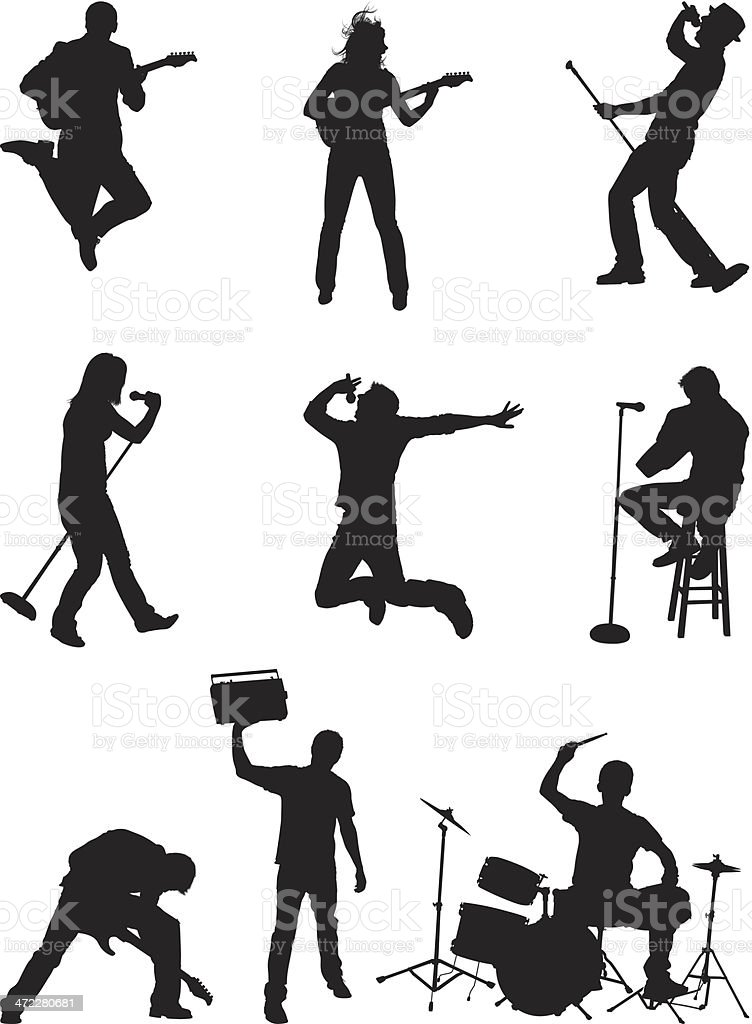 Music lifestyle people rocking out stock vector art more