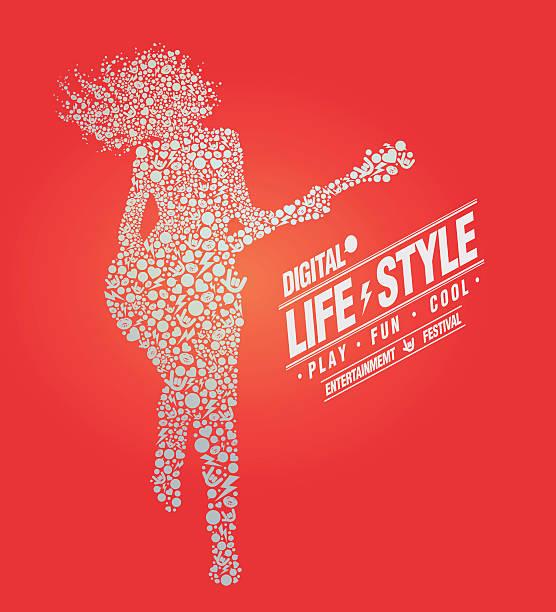 Style de vie de la musique - Illustration vectorielle