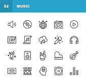 20 Music Outline Icons.