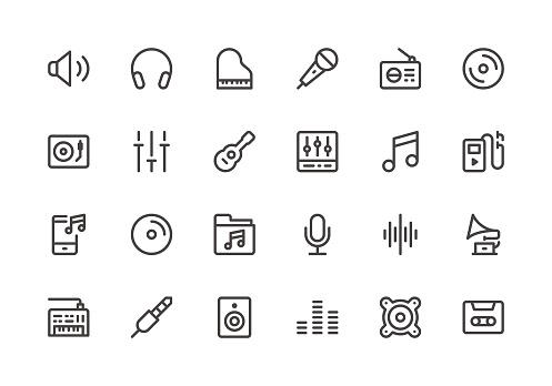 Music - Line Icons