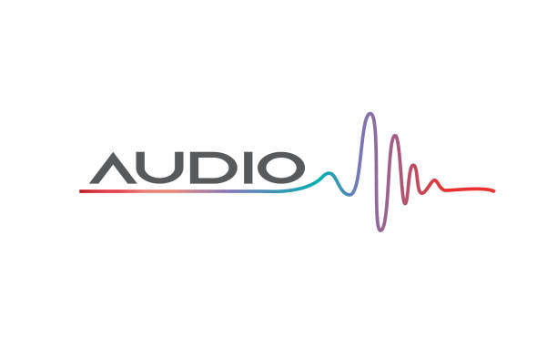 musik logokonzept sound recording studio - sound wave stock-grafiken, -clipart, -cartoons und -symbole