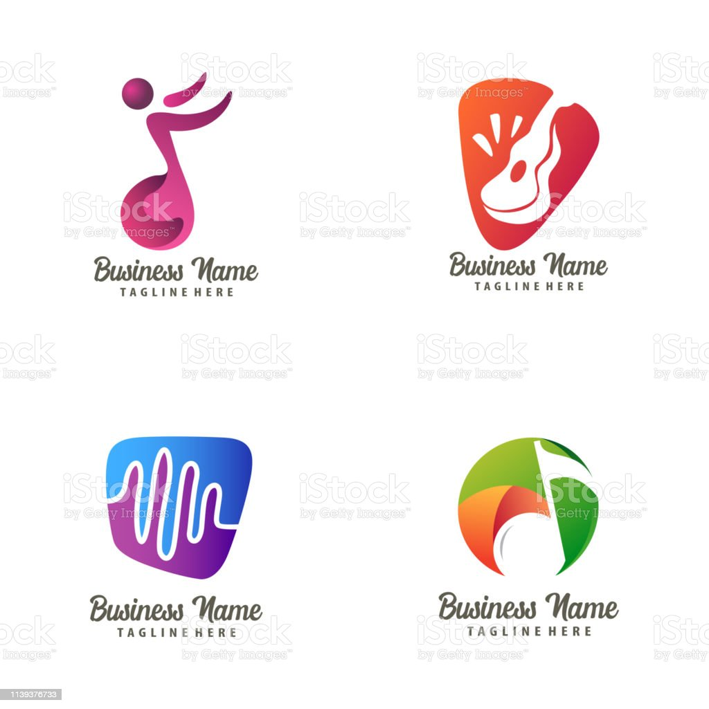 Music logo design and icon suitable for your business, company and...