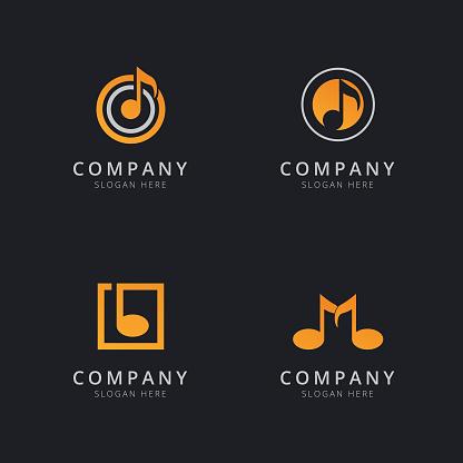 Music Logo Template Design Vector Illustration