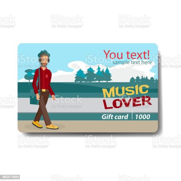 Musik Älskare Försäljning Rabatt Presentkort-vektorgrafik och fler bilder på Affär