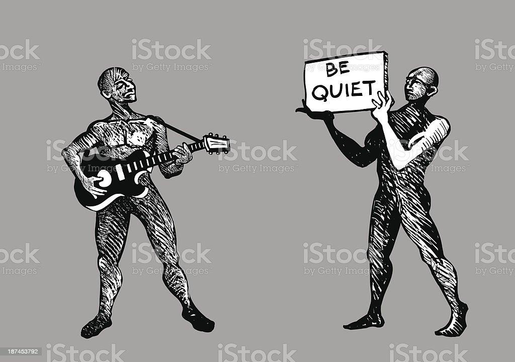 Music lover vector art illustration