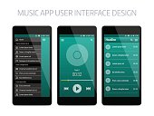 Music modern app user interface design.
