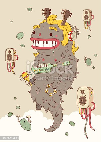Music Monster illustration.