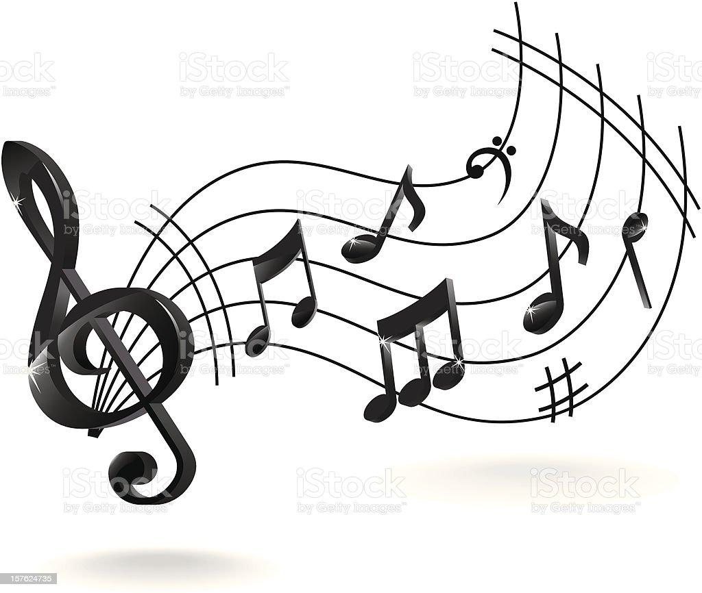 Musik Note Abstrakte Stock Vektor Art und mehr Bilder von ...