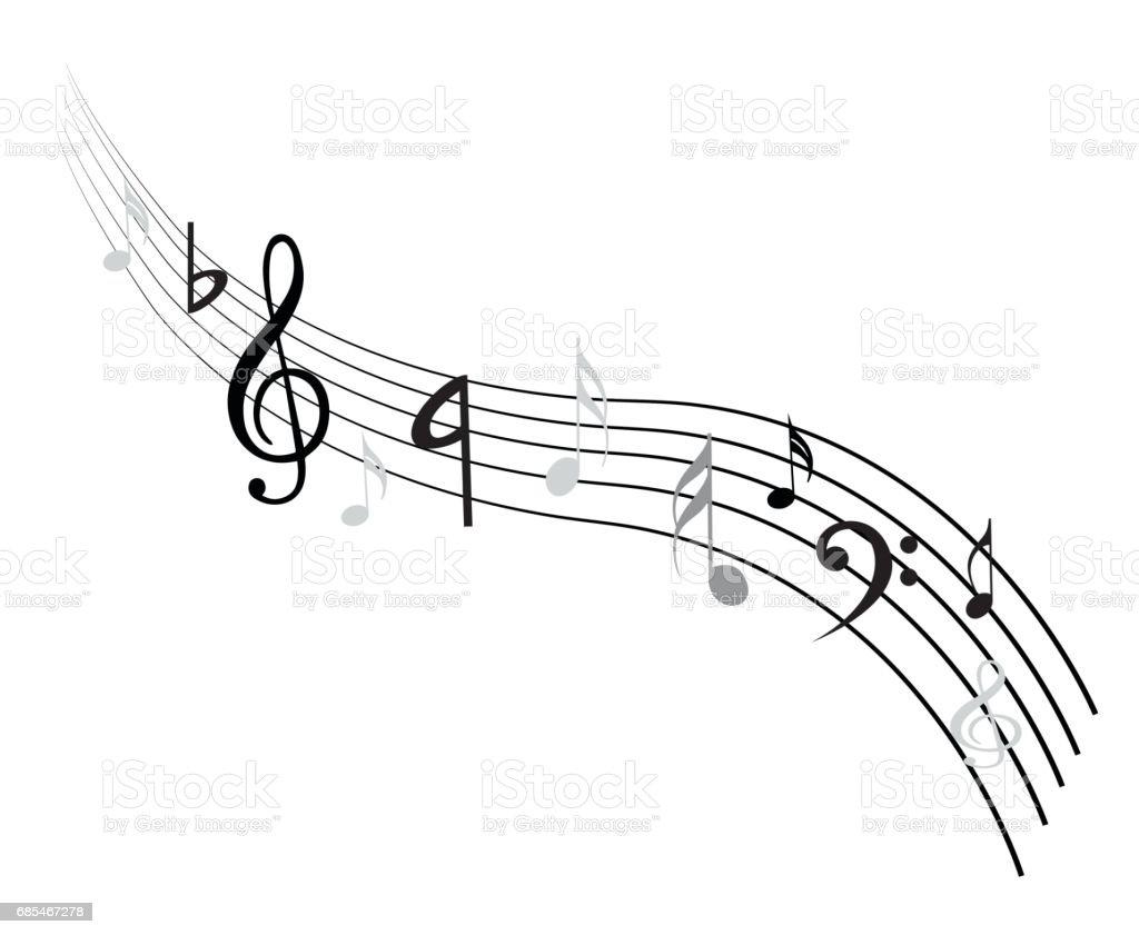 Music Note Background music note background - arte vetorial de stock e mais imagens de abstrato royalty-free