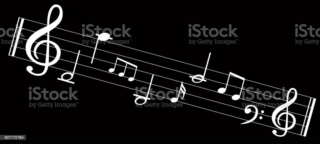 Music Note Background With Music Symbol Icons Stock Vector Art