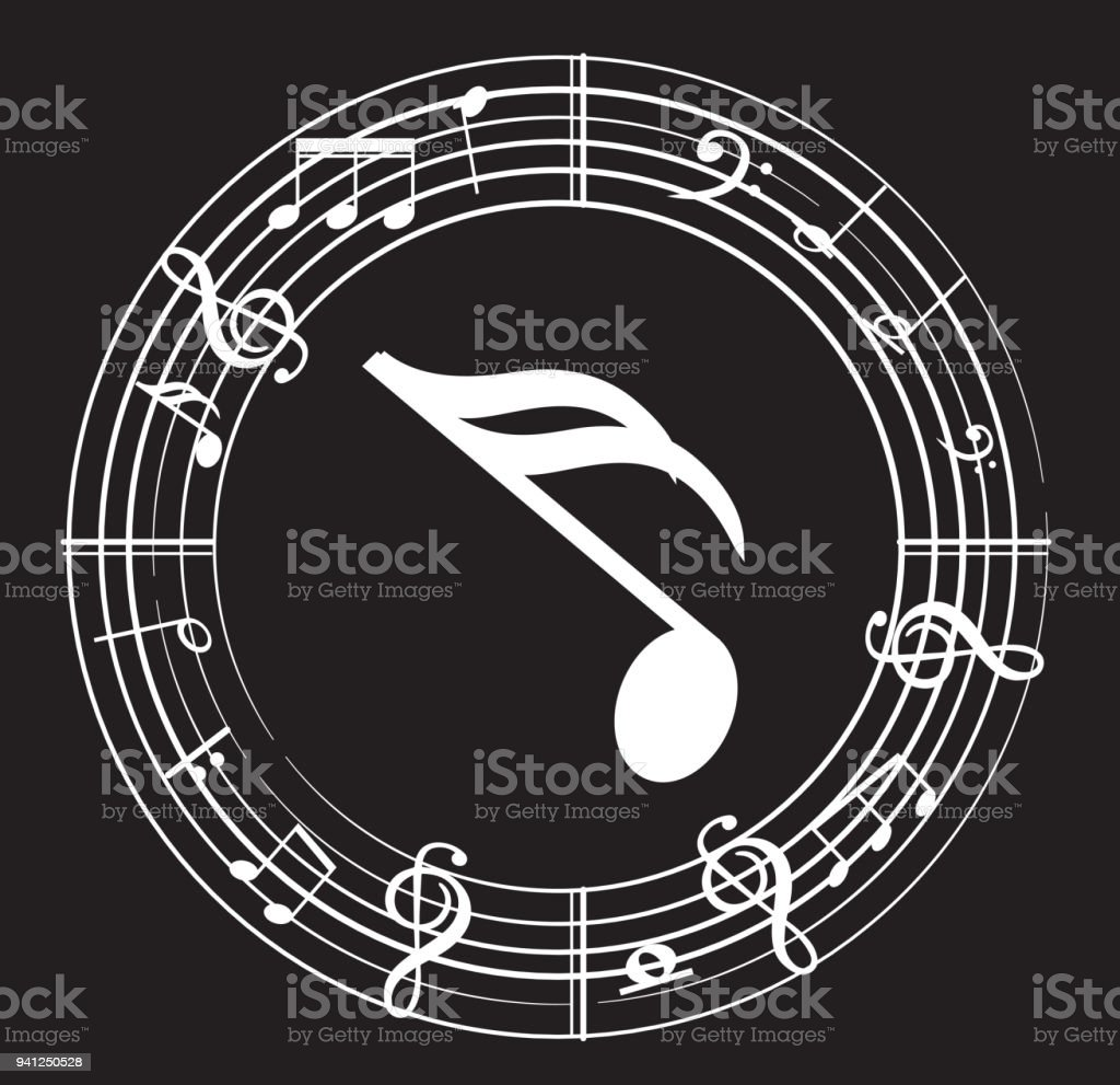 Music note background with music symbols stock vector art more music note background with music symbols royalty free music note background with music symbols stock biocorpaavc Image collections