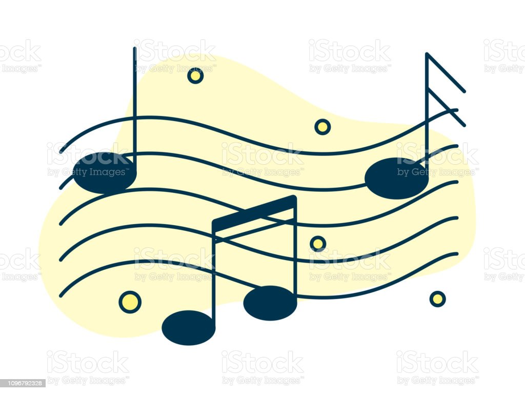 Music Note Design Elements Music And Sound Template Stock