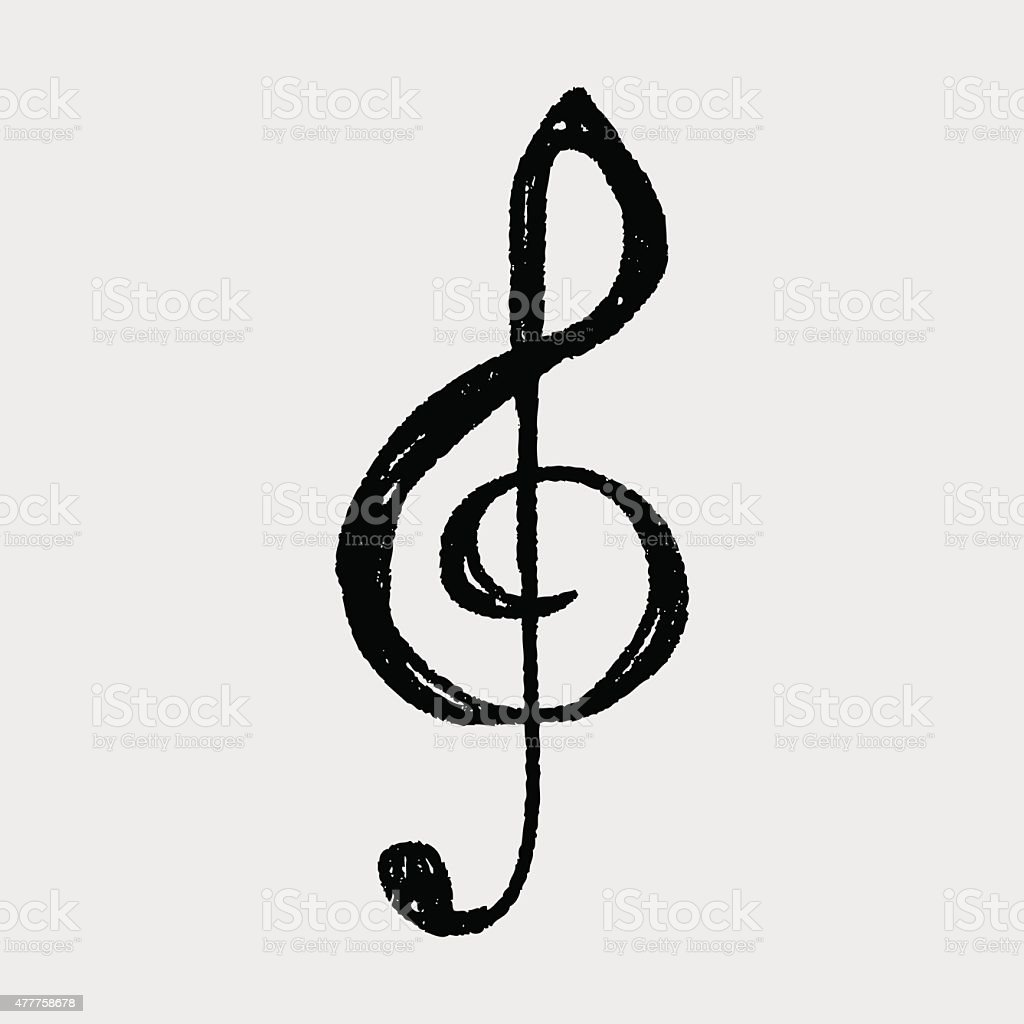 music note doodle vector art illustration
