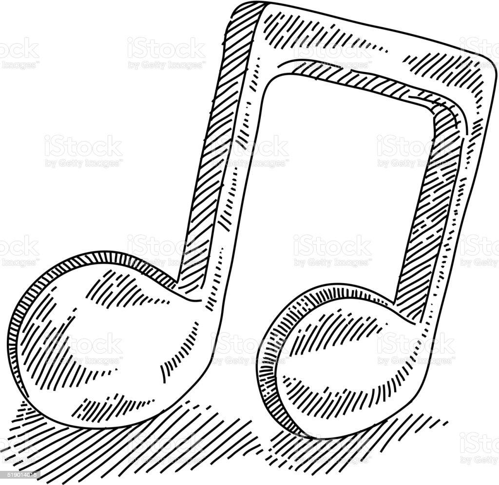 Remarque de musique dessin cliparts vectoriels et plus d - Note musique dessin ...