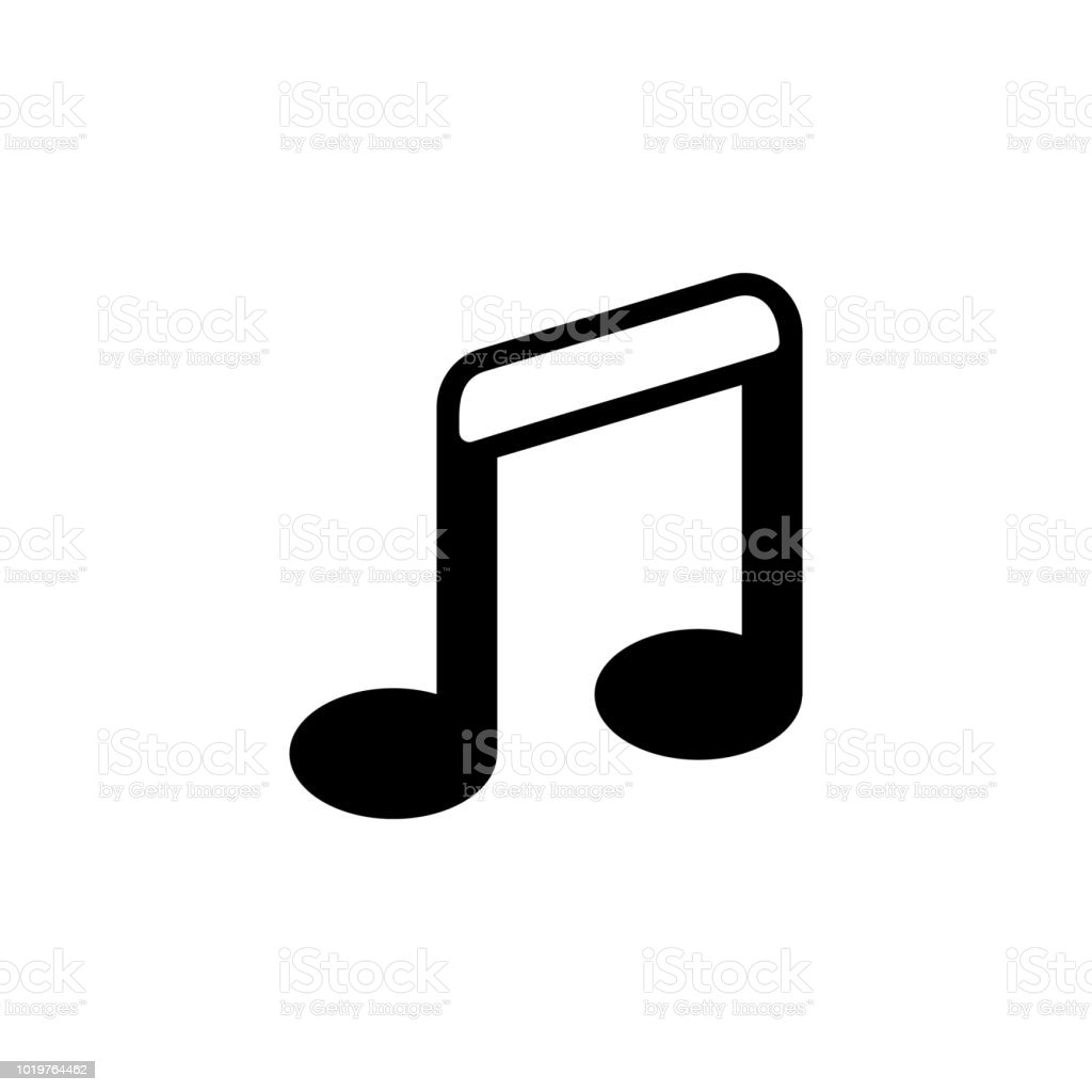 Music Note Icon In Trendy Flat Style Isolated On Background Music