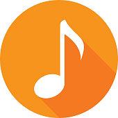 Music Note Icon Silhouette