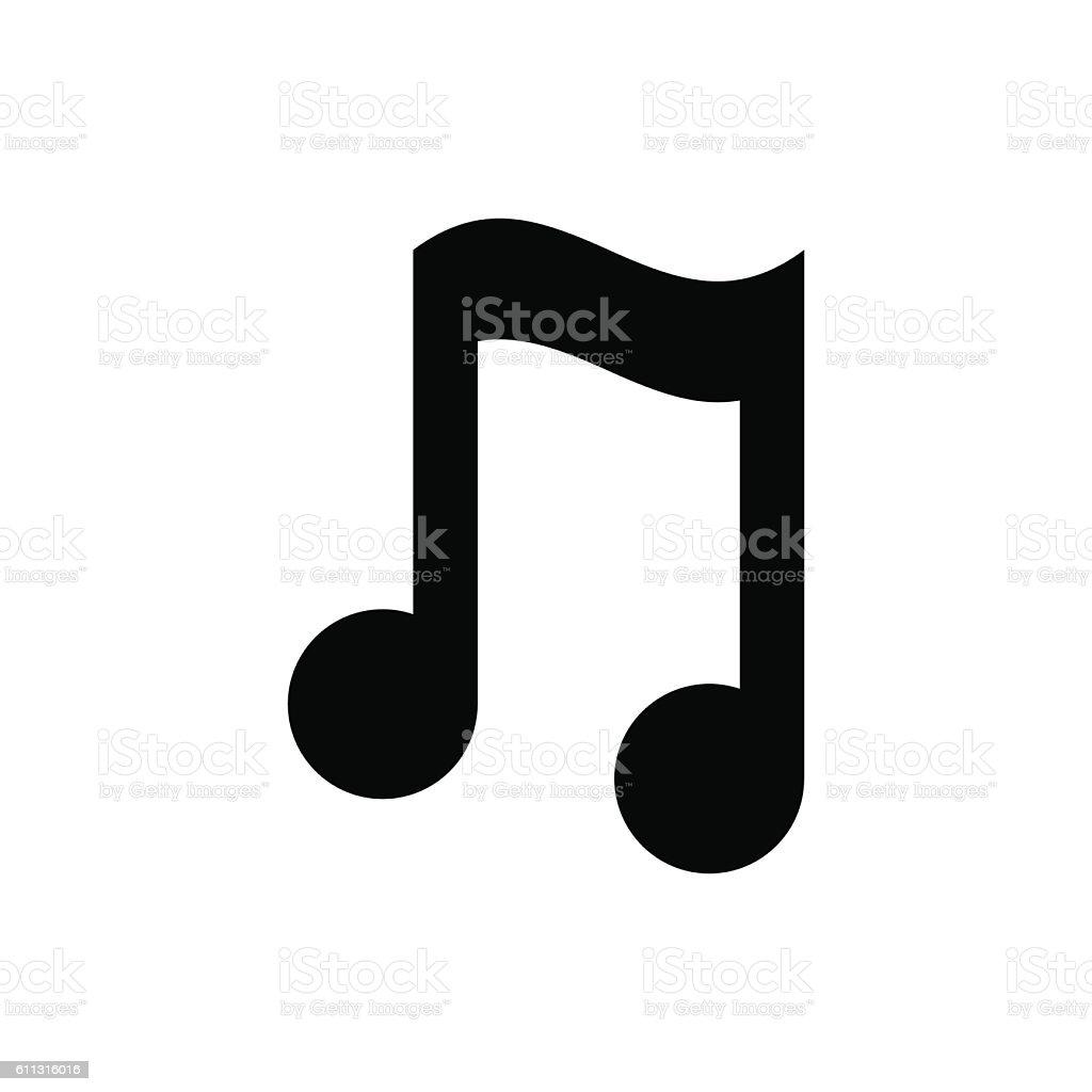 Music note icon stock vector illustration flat design music note icon stock vector illustration flat design voltagebd Gallery