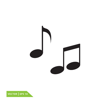 Music note icon vector logo template
